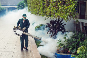 Applying pesticide carelessly can cause problems for humans